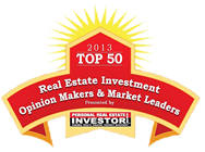 Named 2012 Top 50 Real Estate Investment Opinion Makers & Market Leaders